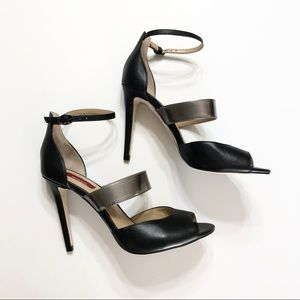 🆕 RED SAKS 5TH AVE Strappy Black Heels • Sz 8/38